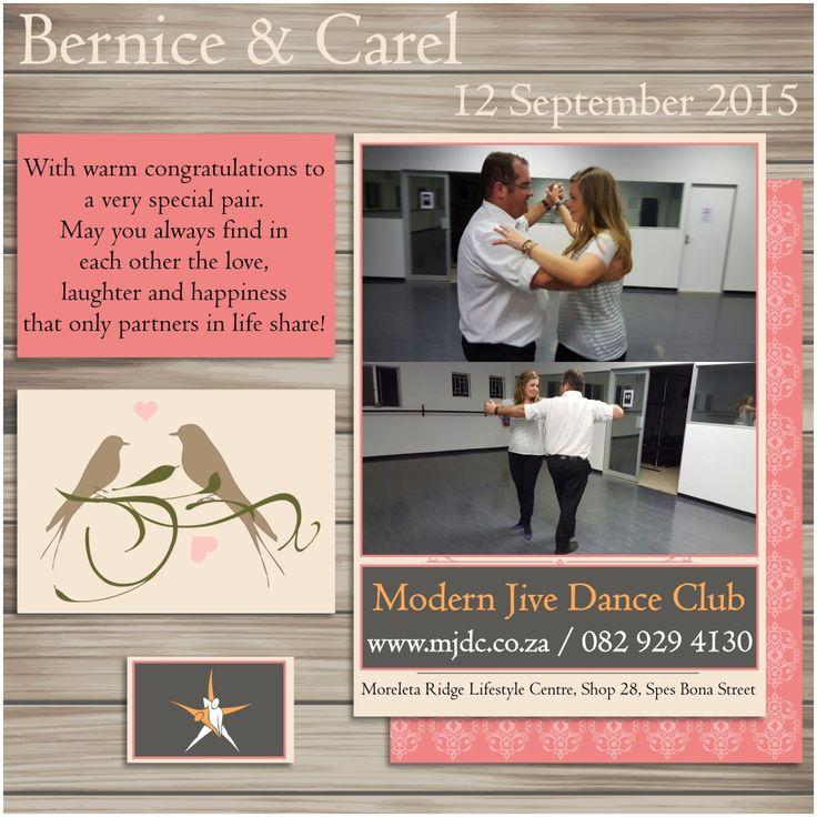 Congratulations Bernice & Carel