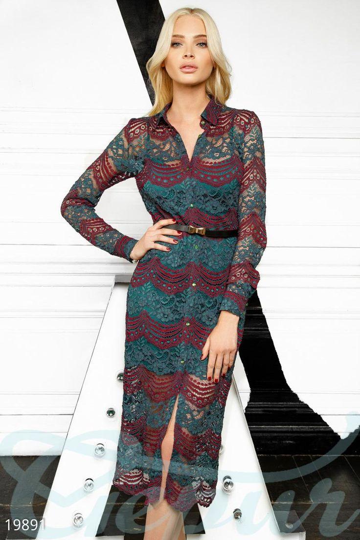 Гипюровое платье рубашка