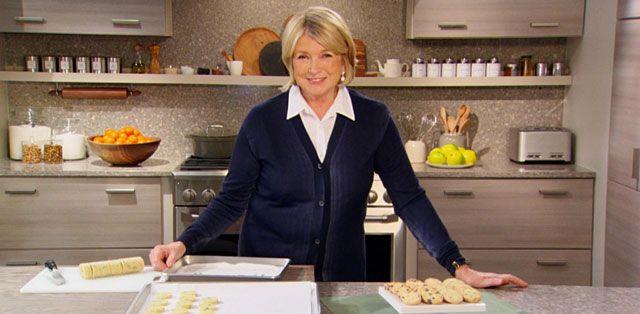 Butter Press Christmas Cookies Recipe from Martha Stewart