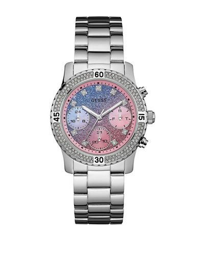 Jewellery & Accessories | Women's Watches  | Multifunction Stainless Steel Silvertone Watch W0774L1 | Hudson's Bay