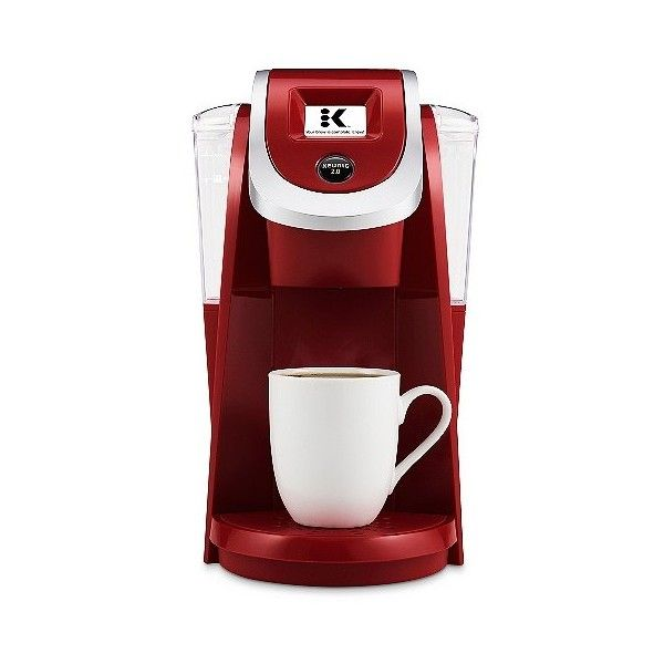 Keurig . K200 Brewing System ($120) ❤ liked on Polyvore featuring home, kitchen & dining, small appliances, imperial red, keurig coffee machine, keurig coffee brewer, single serve brewers, colored coffee makers and espresso coffee machines