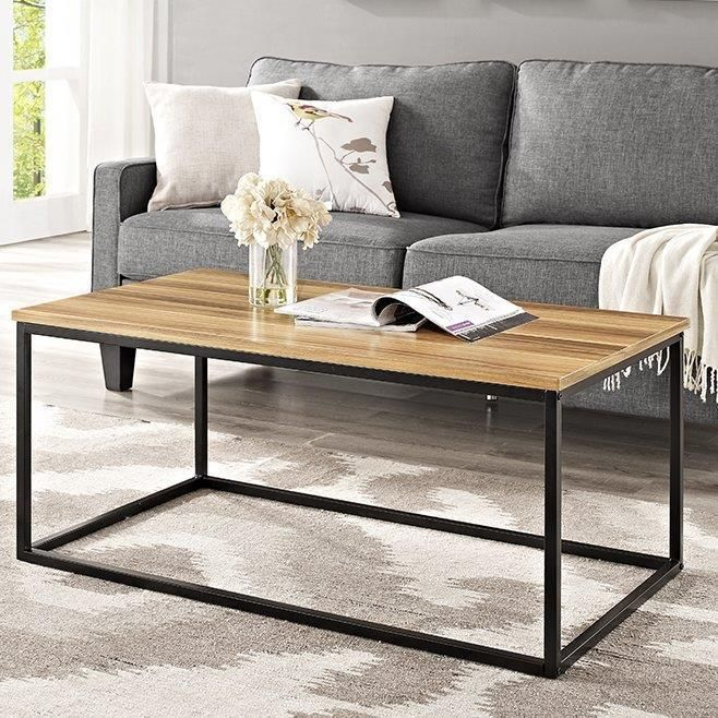 Retro Wooden Coffee Table Sturdy Metal Living Room And Wood Furniture Home Uk Coffee Table Metal Living Room Living Room Diy