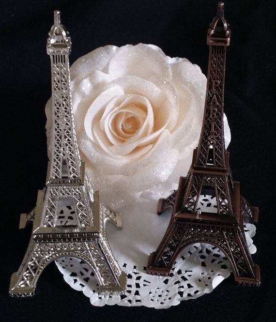 Eiffel Tower Paris Cake Topper Wedding by CakeToppersBoutique