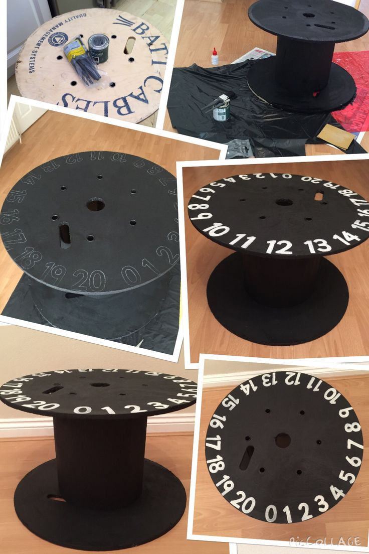 Recycled cable drum into a chalkboard outdoor maths table in my nursery, eyfs