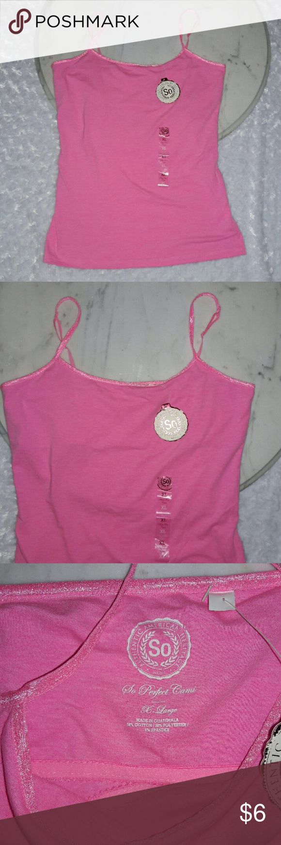 Pink Cami New with Tags Size XL Pink Cami New with Tags   Size XL  Authentic American Heritage Authentic American Heritage Tops Camisoles