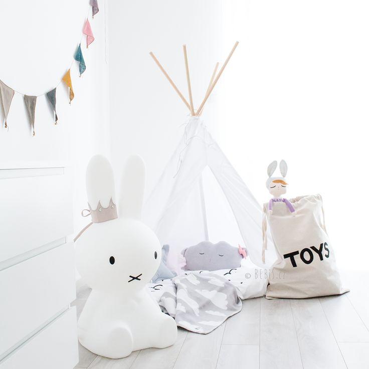 www.bebis.cz | #miffy #miffylamp #mrmaria #miniroom #tellkiddo #girl #room #teepee
