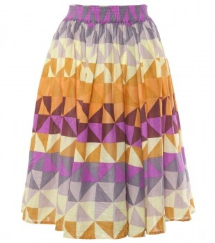I love this skirt but wouldn't this fabric  look amazing as bedroom window curtains?