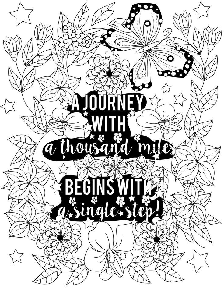 Inspirational Quotes A Positive Uplifting By LiltColoringBooks Adult Coloring PagesColoring