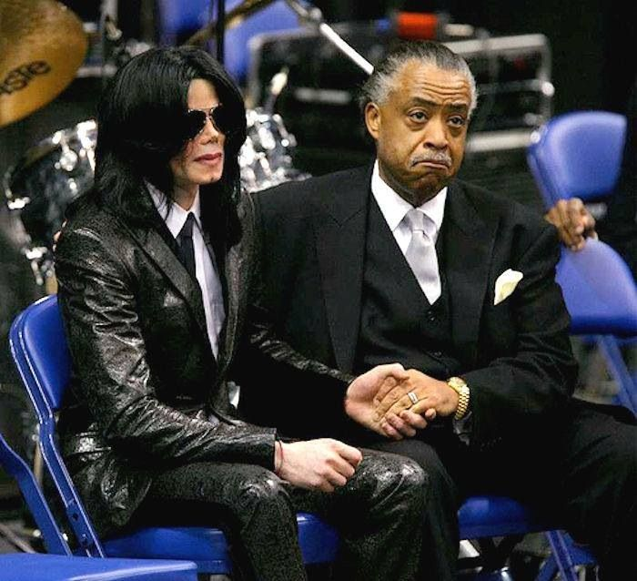 Grieving with Rev Al Sharpton at James Brown's funeral