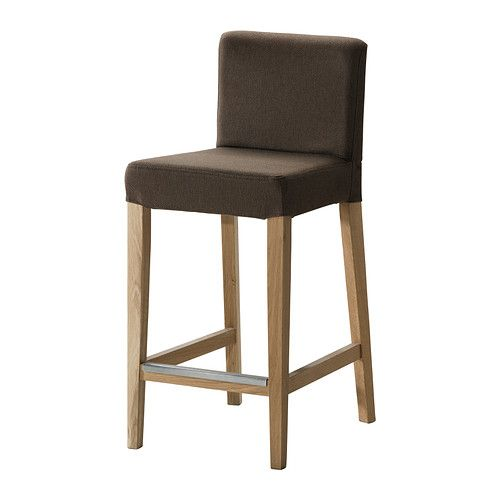HENRIKSDAL Bar stool with backrest IKEA Padded seat for enhanced seating comfort. With footrest for relaxed sitting posture.