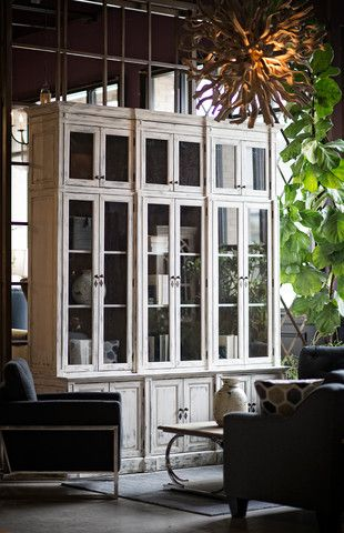 The Oscar 12 + 6 Door Cabinet Offers A Versatile Abundance Of Storage While  The Antiqued