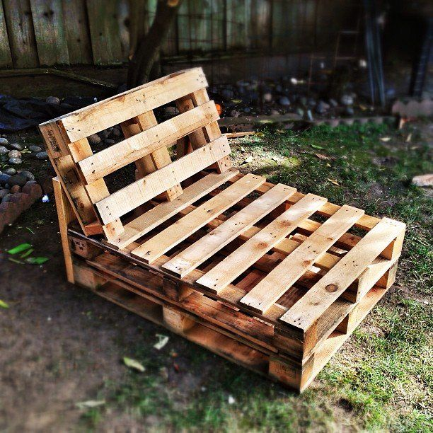 It's the weekend, so that means project time! Today: pallet chaise! Waiting on cushions... by aaronvogel
