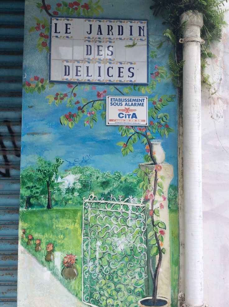 Beautiful wall art in Pointe a Pitre...