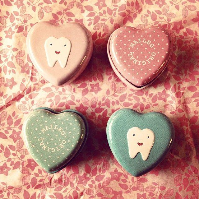 20:- Liten plåtask för tappade tänder från Maileg