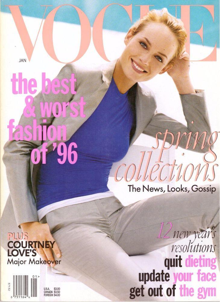 1996 Vogue Magazine Courtney Love Helmut Newton Toni Braxton Matt LeBlanc 90s | eBay