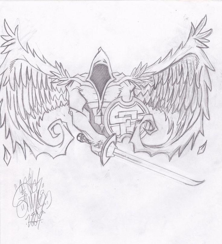 SF Warrior Angel - Tattoo Design - Pencils by SKetCH925 on DeviantArt
