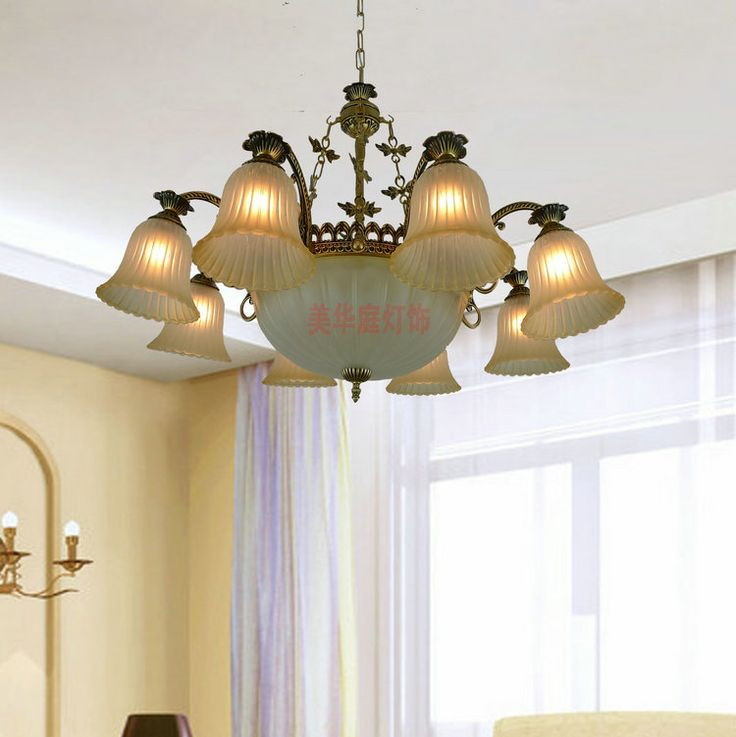 Континентальный Железный распродажа минималистский ретро гостиная люстра столовая спальня сад светильники 10 купить на AliExpress