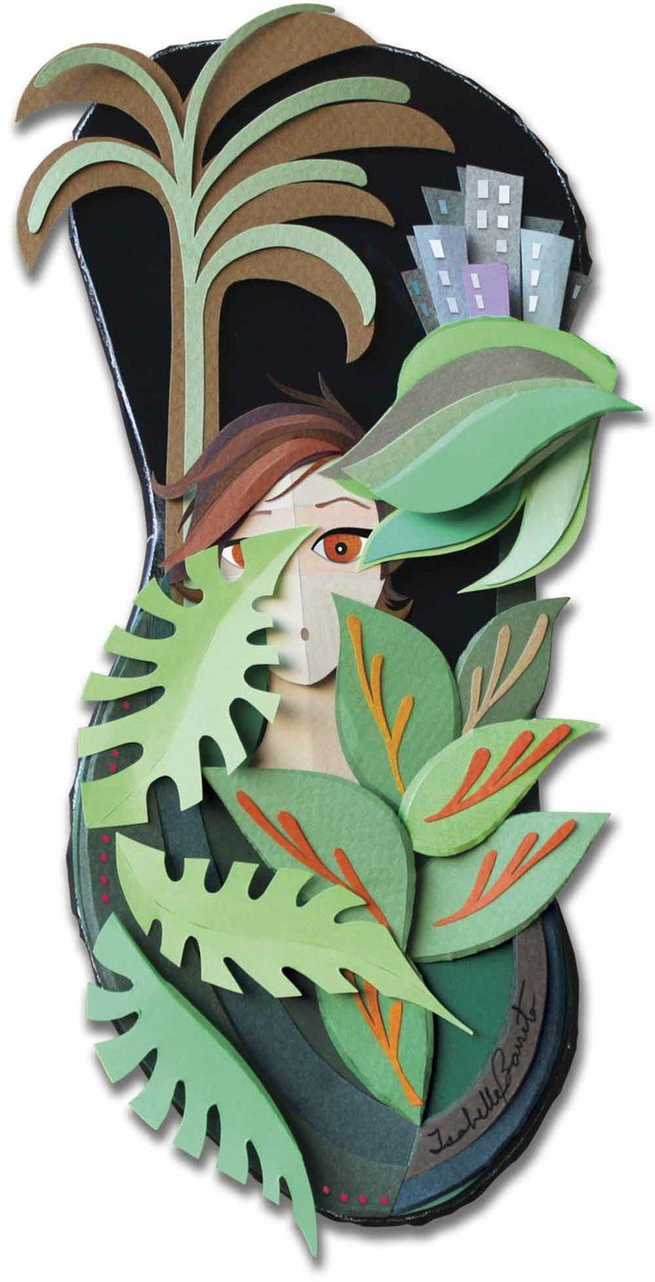 MARÇO. Ilustração em escultura de papel. My work: photo and illustration made out of paper sculpture. Veja Rio magazine.