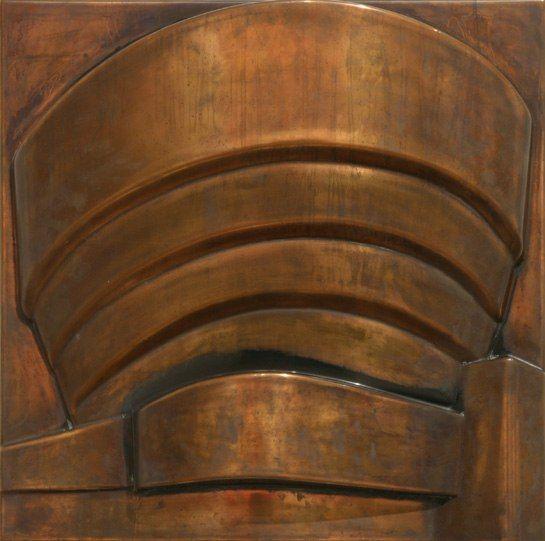 Richard Hamilton's Guggenheim—Tarnished Copper, 1976. Photo courtesy of the Norton Museum of Art