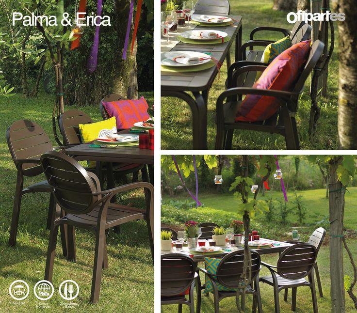 Palma & Erica: Línea de soluciones para espacios exteriores o interiores, diseñados como complementos en ambientes de descanso, consumo de alimentos y bebidas, lectura y demás actividades de esparcimiento.