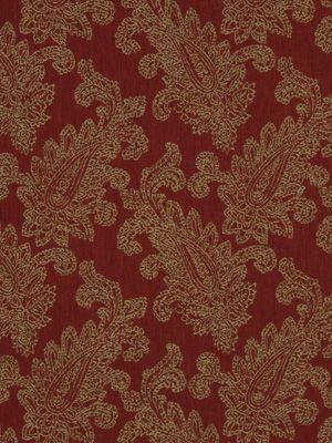 Robert Allen paisley puff - red hot