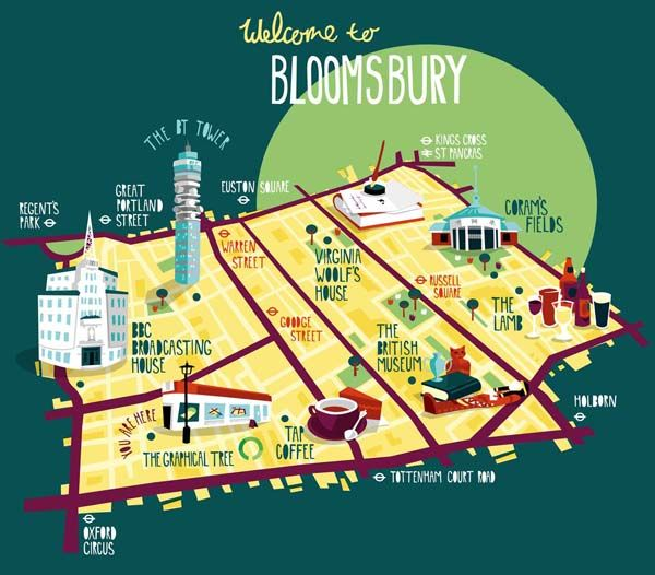 Map of Bloomsbury More
