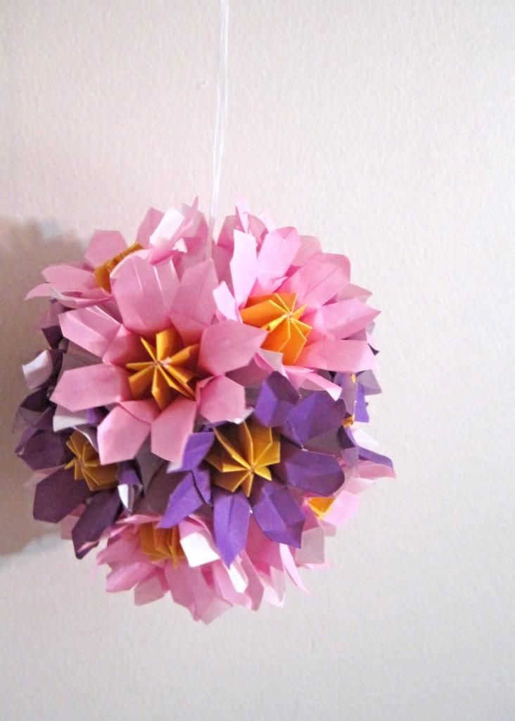 Kusudama Origami Flower Ball Decoration Hanging Paper