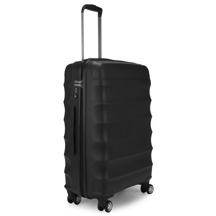 Antler - Juno 68cm Medium Hardside 4 Wheel Suitcase Black