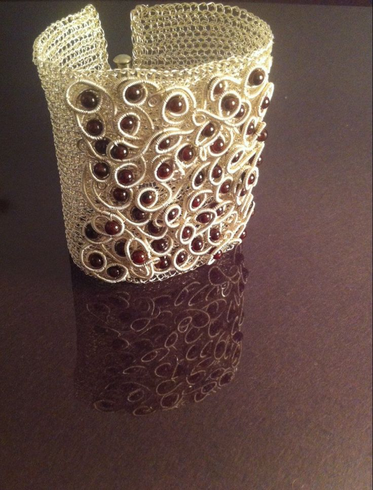 A personal favourite from my Etsy shop https://www.etsy.com/listing/224069781/wire-crochet-cuff-bracelet-with-natural