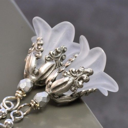 Lucite Flower Frost Earrings Jewelry Amp Bead Inspiration