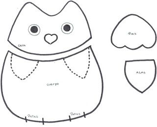 ARTE COM QUIANE - Paps, Moldes, E.V.A, Feltro e Costuras: PAP:Coruja de tecido
