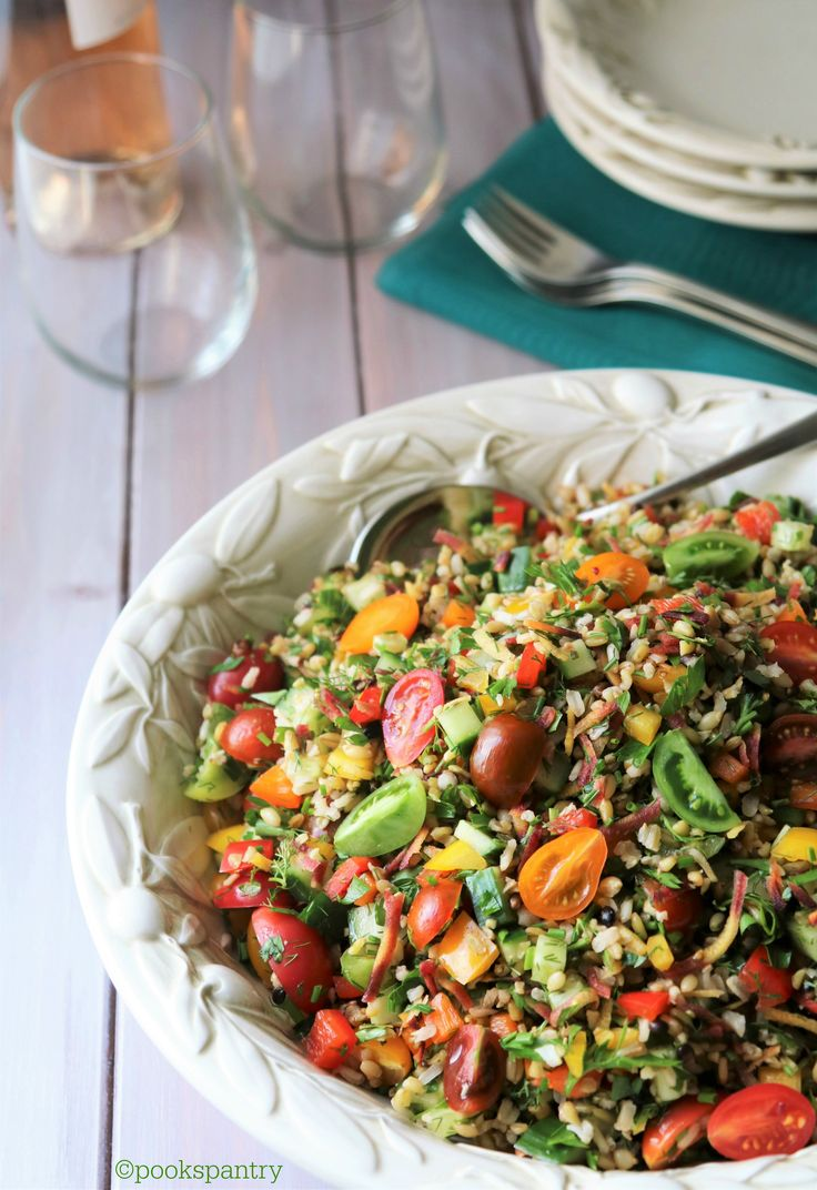 Summer Grain Salad #SundaySupper  www.MarysLocalMarket.com Sustainable. Natural. Community. #maryslocalmarket