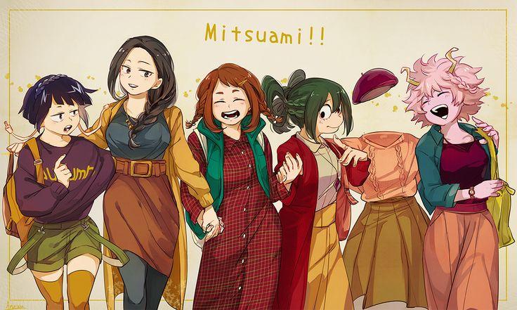 Boku no Hero Academia || Kyouka Jirou, Momo Yaoyorozu, Uraraka Ochako, Tsuyu Asui, Tooru Hagakure, Mina Ashido.