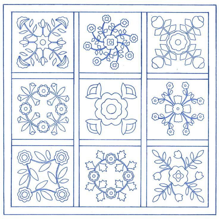 Free Applique Quilt Block Patterns | Traditional Applique Patterns - Grandma's Attic Sewing Emporium, Quilt ...