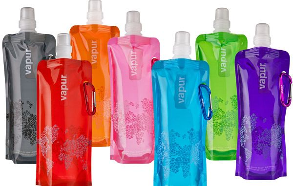 Vapur Anti-Bottle. A foldable, reusable, BPA-free water bottle that can be packed away when not being used. Love this! #travel #gift