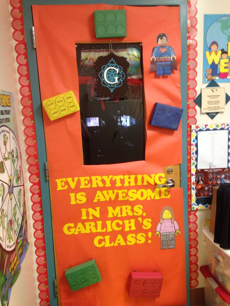 Lego Classroom Decor : Teacher door decorations lego movie