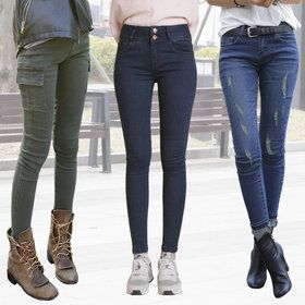 Gmarket - Ripped skinny jeans / ankle length / skinny cargo pant...