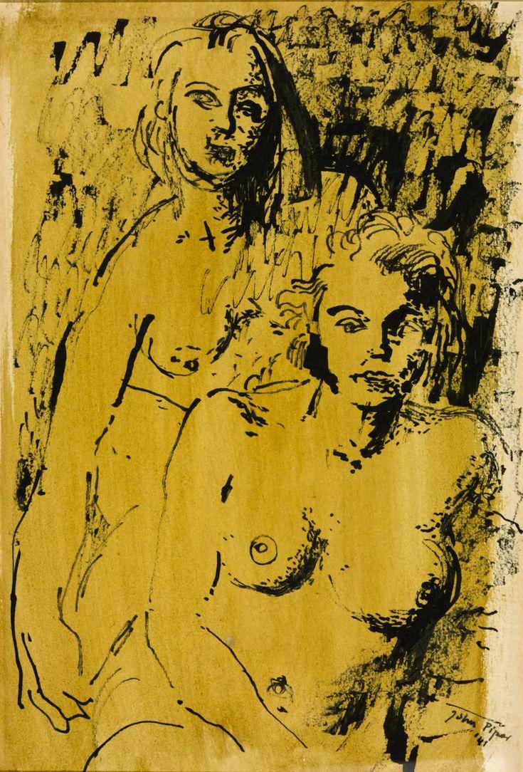 John Piper, 'Figure Drawing' 1941