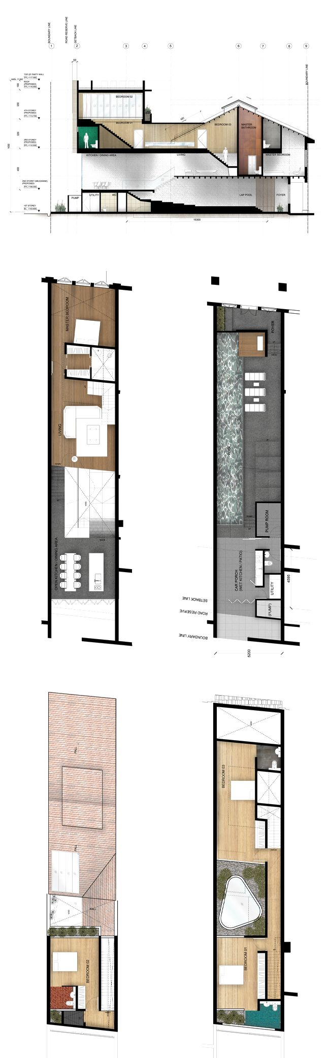 House N° 21- render floorplan (with material)