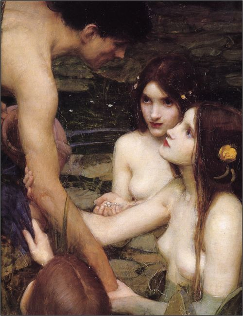 Hylas and the Nymphs (detail). 1896. John William Waterhouse