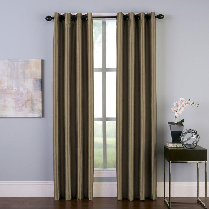 Malta Grommet Room Darkening Window Curtain Panel Bed Bath