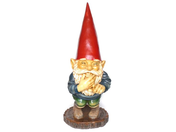 30 INCH Garden gnome, Gnome Laughing after a design by Rien Poortvliet, David the Gnome, Childrens decor, el Gnomo. Gift.