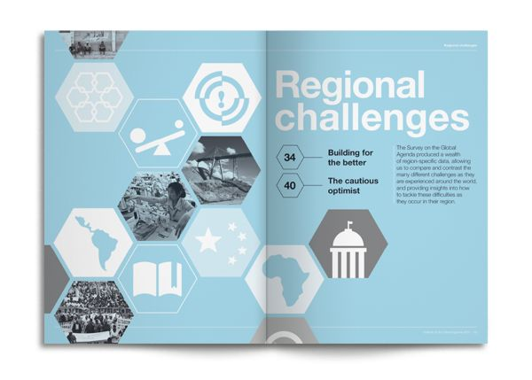 World Economic Forum: Outlook on the Global Agenda 2014 by Human After All ., via Behance