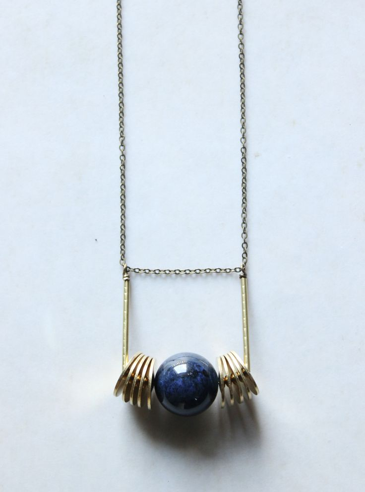 dumortierite jewelry blue orb necklace brass Geometric pendant necklace long statement necklace gold modern minimalist jewelry urban jewelry Xuanqirabbit on Etsy long modern minimalist boho jewelry minimal necklace,bohemian jewelry minimalist jewelry. boho necklace,bohemian jewelry,simple jewelry,simple necklace,minimal fashion,minimalist fashion.marble jewelry.marble necklace,modern jewelry,urban jewelry,boho fashion,bohemian fashion,contemporary jewelry,architectural jewelry