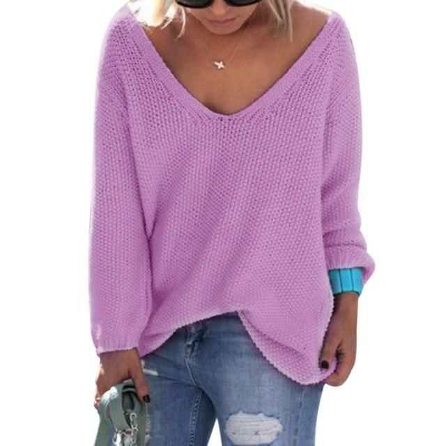 New Ladies Womens Girls Knitted Casual Loose Neck Knit Cardigan Poncho Top