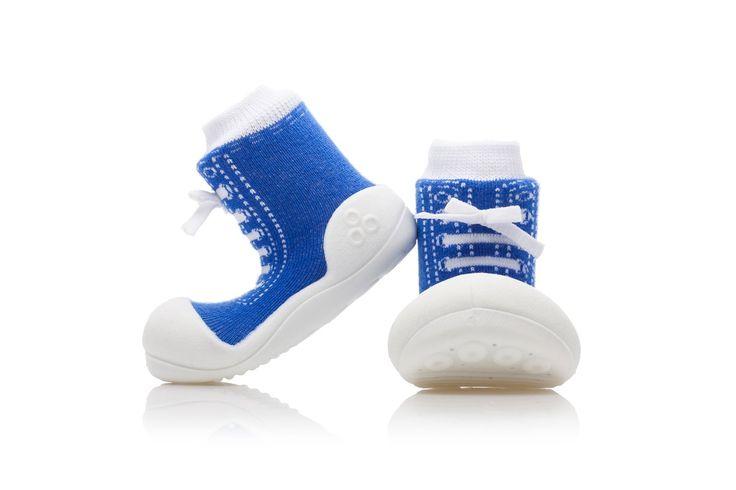 Niebieskie i przewiewne buciki - skarpetki Attipas Sneakers Blue
