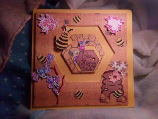 Penny Sliding Card - Bee happy
