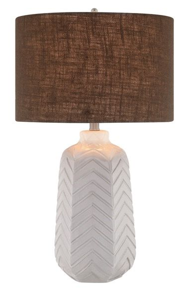 JAlexander Lighting Chevron Pattern Ceramic Table Lamp available at #Nordstrom