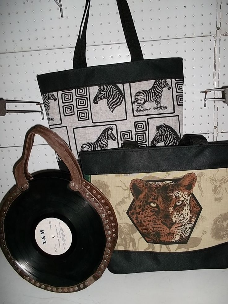Creativity at its best fashion bags made from old album plates