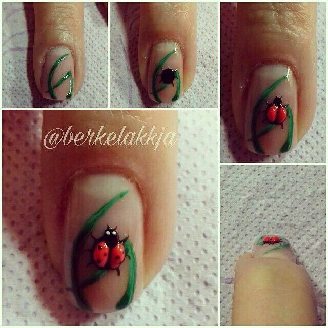 Stepbystep nail art. Nail tutorial.